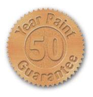 50 year warranty - Seamless Gutters