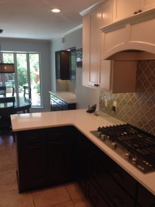 After kitchen countertop