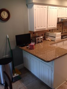 Before kitchen counter