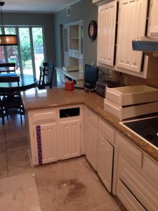 Before kitchen counter top