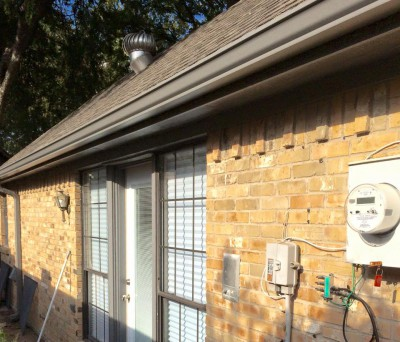new gutters installed