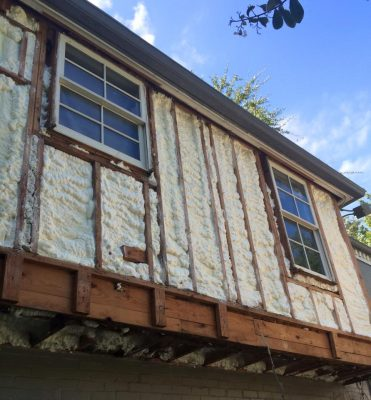 Siding under construction