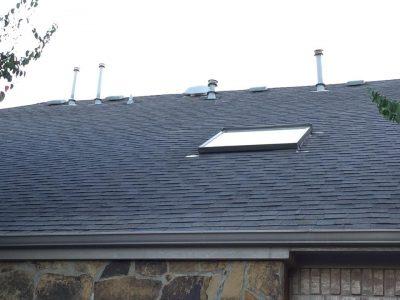 Old Hail Damaged Roof