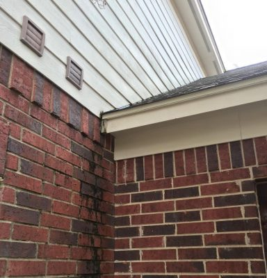 Before Gutter replacement