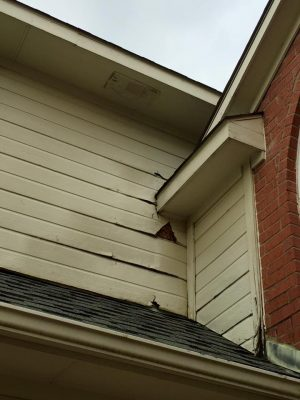 House siding before