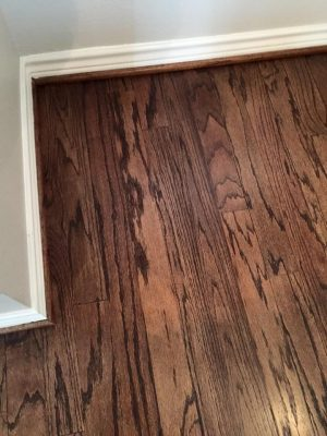 hardwood floor after a remodel