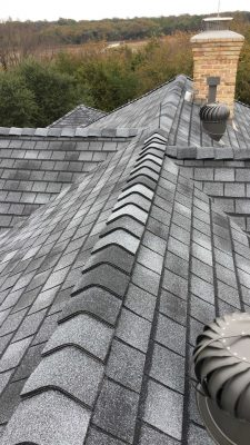 birds eye view of roof