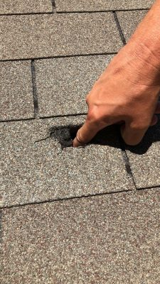 Hail Damage to McKinney Roof