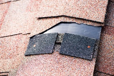 Loose Shingles cause a roof to leak in McKinney, TX