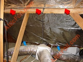 Radiant Barrier heat flow