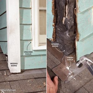 Roof leaks at a dormer wall