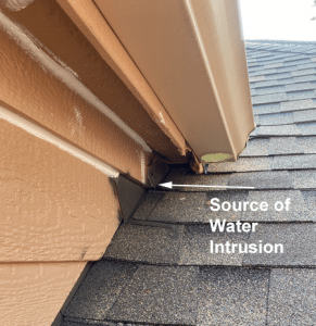 Leaking flashing on roof